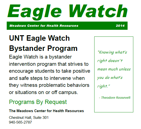 Eagle Watch Bystander Program