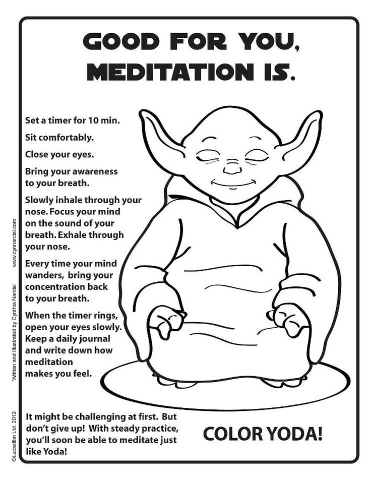 Good for you, meditation is.
